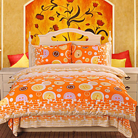 Color Puzzle Jacquard Full 4-piece Duvet Cover Set