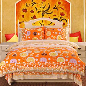 Color Puzzle Jacquard Full 4-piece Duvet Cover Set