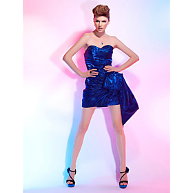 Sheath/Column Strapless Organza Short/Mini Cocktail Dress Inspired By Nina Dobrev