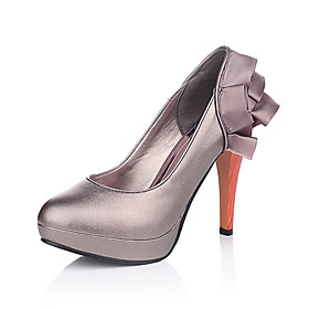 Leatherette Stiletto Pumps With Ruffle Heel (More Colors)