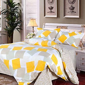 Dream Sunshine Jacquard Full 4-piece Duvet Cover Set