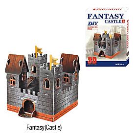 Single Tower Castle 3D DIY Puzzle
