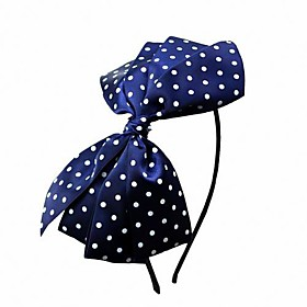 TS Polka Dot Bow-tie Skinny Head Band