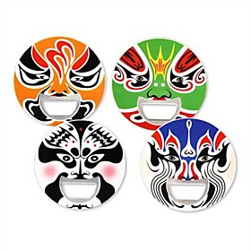 Beijing Opera Mask Pattern Bottle Opener (Random Color)