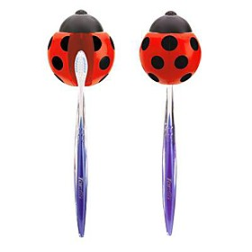 Red Ladybug Design Toothbrush Holder