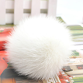 TS Rabbit Fur Ball Purse Embellishment