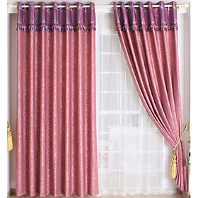 Moire Embossed Casual Blackout Curtains (Pair)