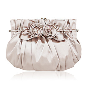 Silk with Flowers Evening Handbags/Clutches/Cross-Body Bags/Shoulder Bags