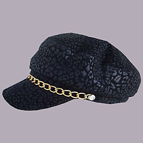 Fashion Silver Printing Leather Cap (S:55CM,M:57CM,L59CM)