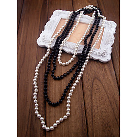 Layered Shell Pearl Necklace