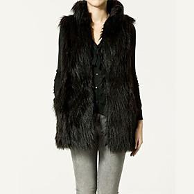 TS Faux Fur Slimming Vest