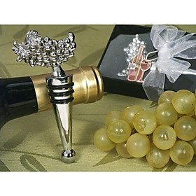 Silver Grapes Wine Stopper