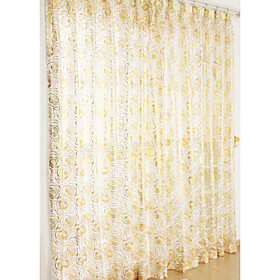 Premium Print Casual Sheer Curtains (Pair)