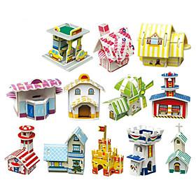 Hut Series 3D DIY Puzzle (12 Huts)
