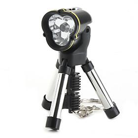 LED Flashlight Keychain with Tripod Stand (Black)