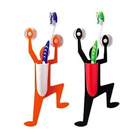 Bathroom Climbing Man Design Toothbrush Holder (Random Color)