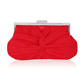 Silk with Crystal/Rhinestone Evening Handbags/Clutches More Colors Available