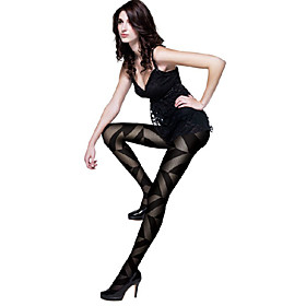 Irregular Triangle Jacquard Pantyhose