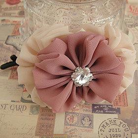 Diamond Embellished Flower Hair Clip