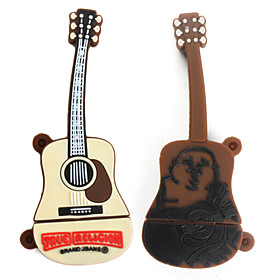 16GB Guitar Style USB Flash Drive (Brown)