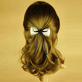 TS Handmade Blue Bow Spring Hairclip