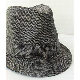 TS Herringbone Fedora Hat (More Colors)(57cm)