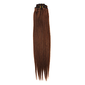 18 Inch 7 Pcs 70% Human Hair Silky Straight Clip In Hair Extensions Multiple Colors Available