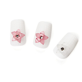 Pink Resin Flower Nail Decals (20 Pcs)