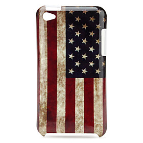 Protective Star-Spangled Banner Pattern Case for iPod Touch 4