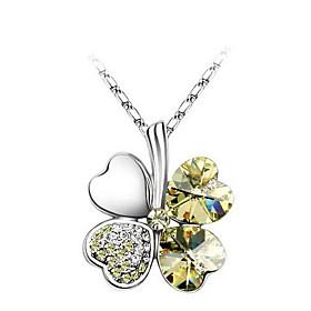 Four-leaf Clover Crystal Necklace