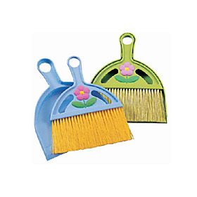 Tabletop Broom with Dustpan (Assorted Colors)