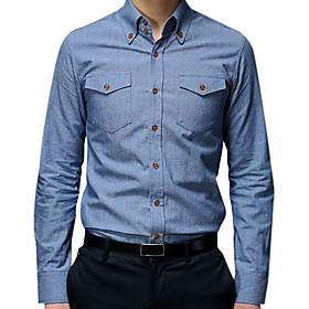 Man's Fashion Shirt Long Sleeve Adjustable