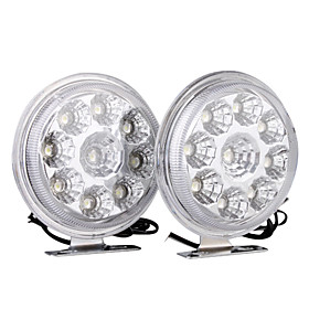 Car Daytime Running Light (2 PCS, 9 LED, White Light, Waterproof)