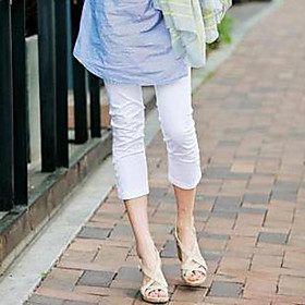 botones de caramelo de color en ambos lados culottes de maternidad