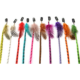 60 Pcs Mixed Color Clip in Grizzly Feather Hair Extensions
