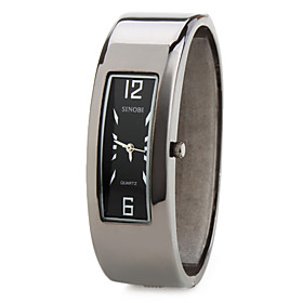 Men's and Women's  Alloy Analog Quartz Bracelet Watch (Black)