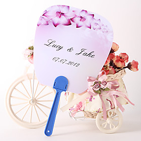 Personalized Fan Wedding Favor – Violet