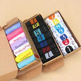 Cute Men Women Seven Days Sports Cotton Ankle Socks(More Colors)