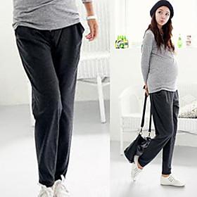 Super básicos de maternidad suave pantalones harem
