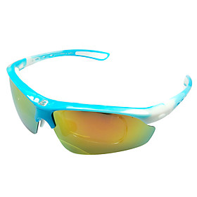 Basto-High Quality Sports Glasses Cycling Glasses with 3 Pieces UV Filtering,Polarized and Departed Lens  (6 Colors Available)
