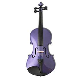 4/4 Glossy Solid Spruce Violin (Multi-Color)