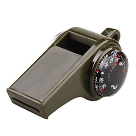 Multifunctional 3 In 1 Thermometer Whistle Compass