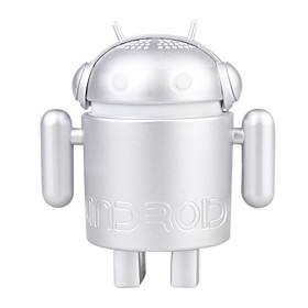 USB Android Robot Speakers Laptop Tablet PC MID (Silver)