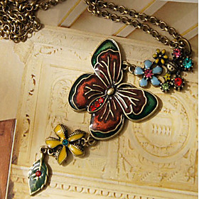 Jewel Butterfly Necklace