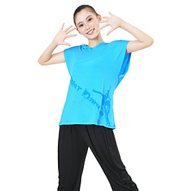 Women's Short Sleeve Hooded Cotton Jazz Dance Top More Colors