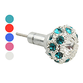 Anti-dust Fashionable Earphone Jack w/ Sim Card Eject Needle for iPhone and iPad (Assorted Colors)