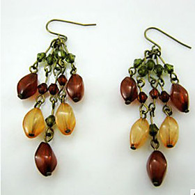 Bohemian Colored Stoned Earrings