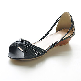 Flat Leatherette Twist Strap Sandals (More Colors)