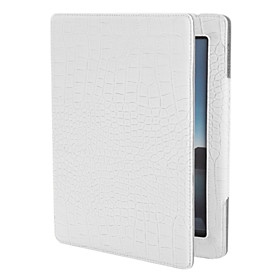 Protective PU Leather Case and Stand for iPad (White)