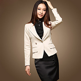 Basic Long Sleeves Fitted Blazer